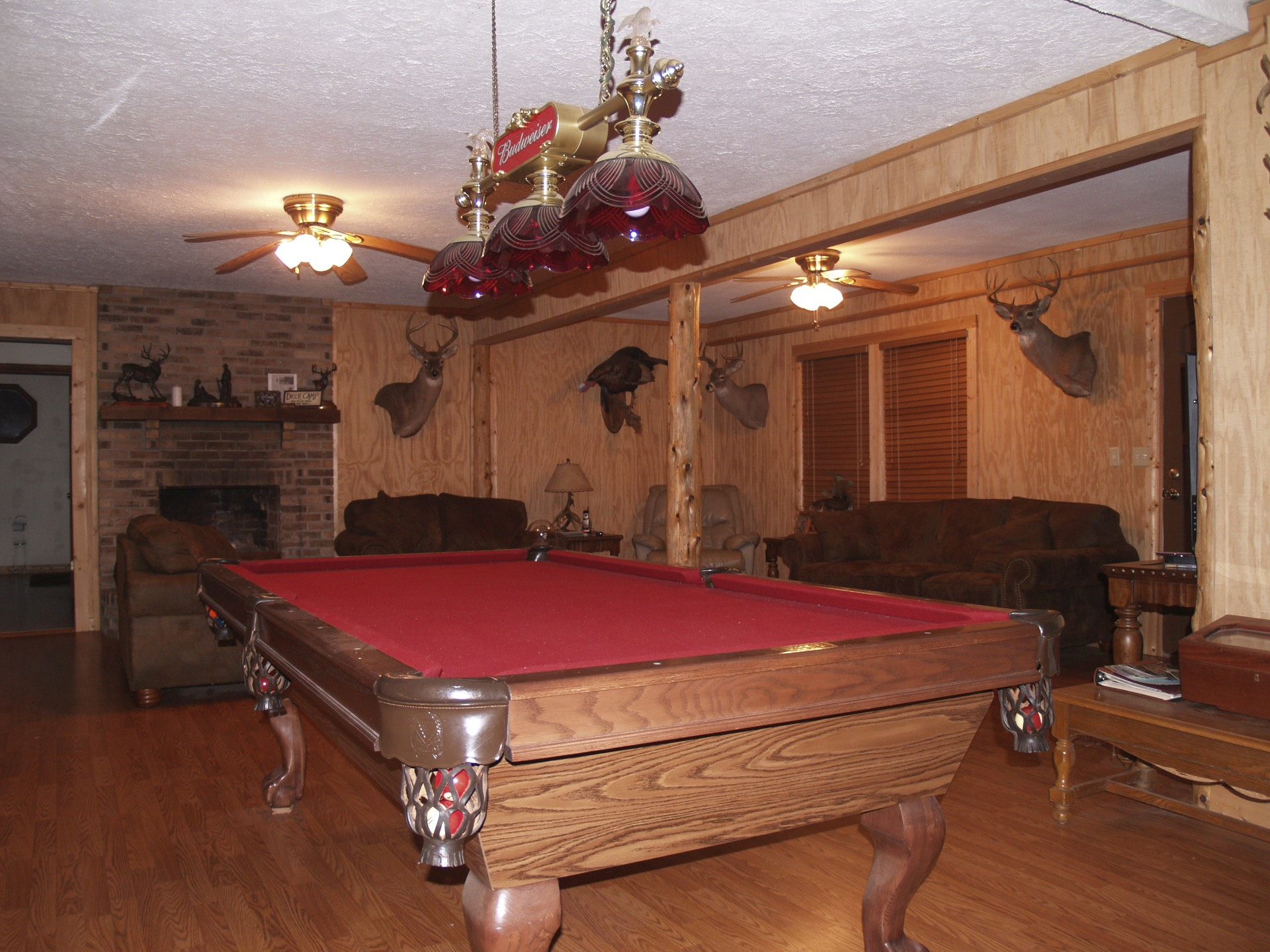 The Pool Table And Living Room Area Life In Camo Shenanigans - Buckhorn pool table